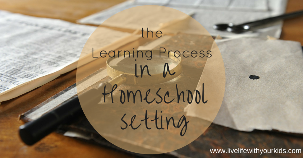 A homeschool learning process.